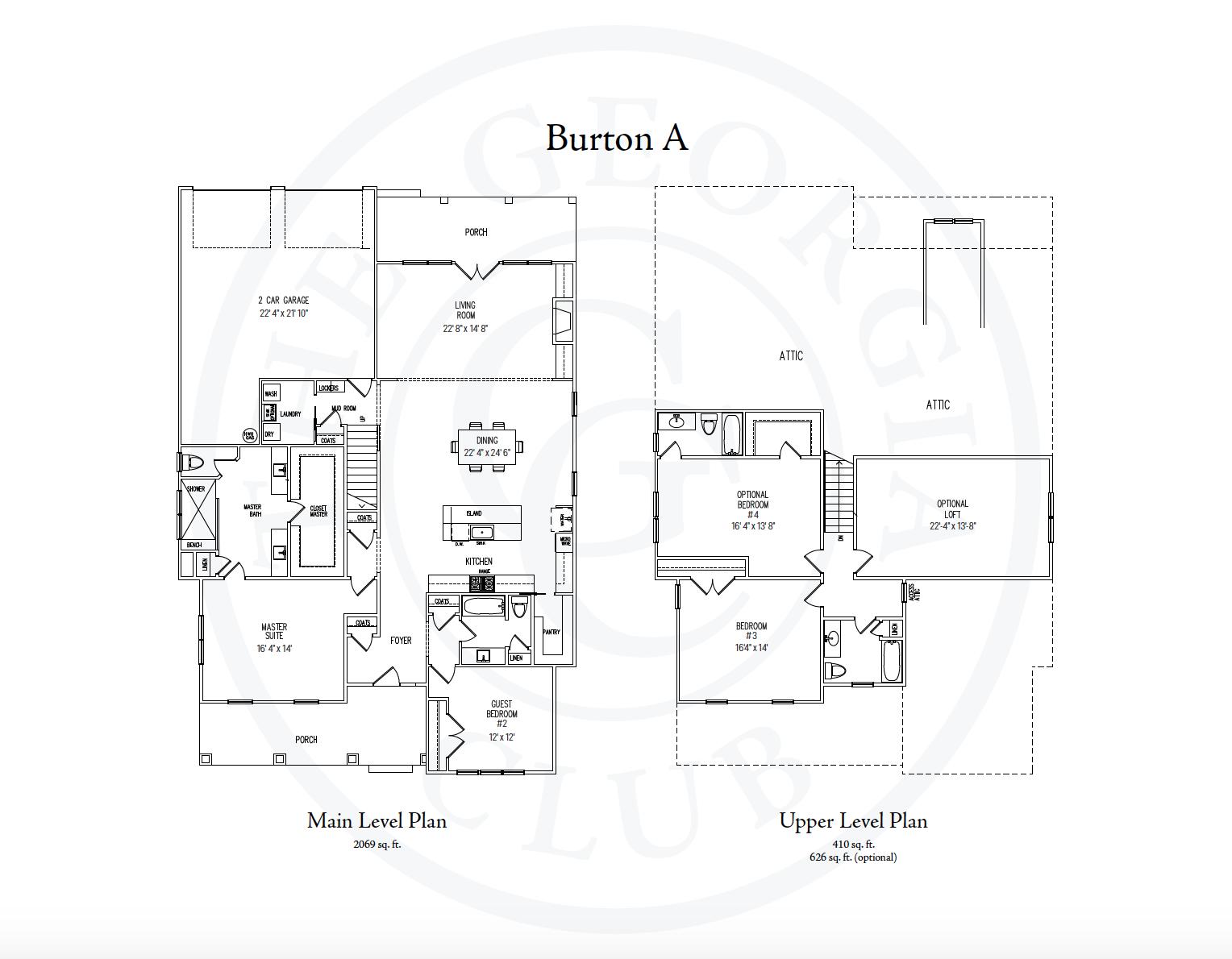 Burton A floor plan