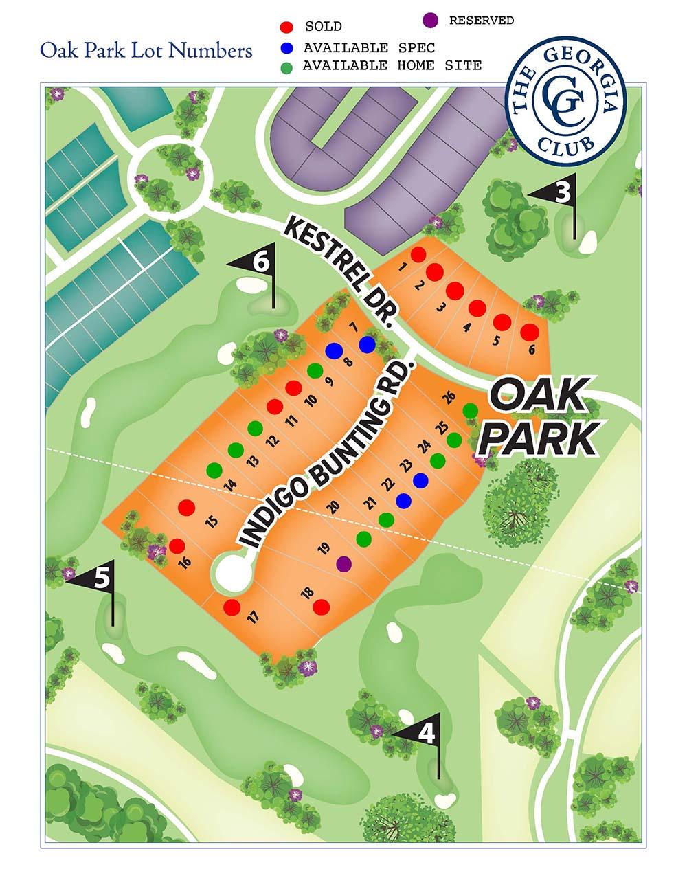 Oak Park lot info
